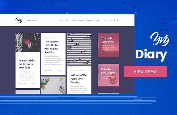 Yvy - Diary Blog/Magazine WordPress Theme