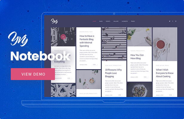 Yvy — Notebook Blog/Magazine WordPress Theme