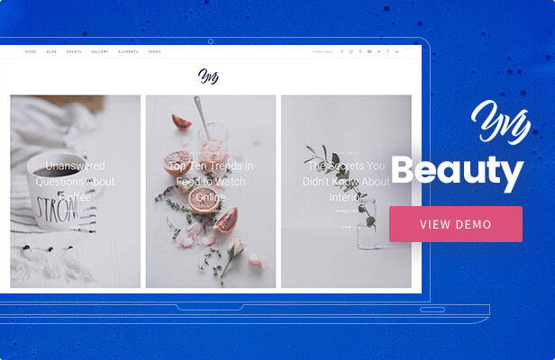 Yvy - Beauty Blog/Magazine WordPress Theme