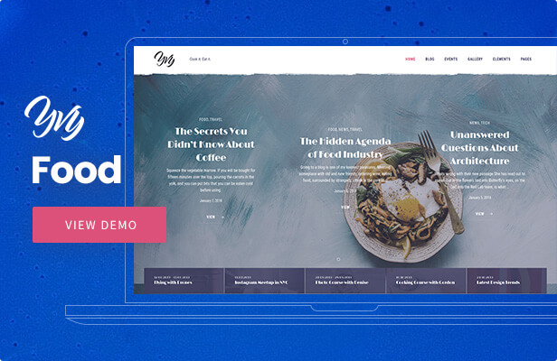 Yvy - Food Blog/Magazine WordPress Theme