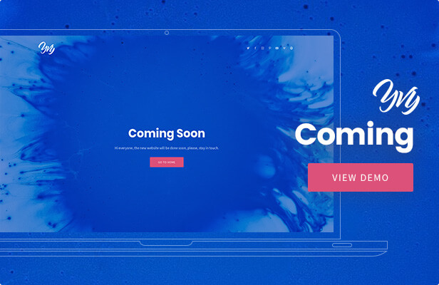 Yvy - Coming Soon WordPress Theme